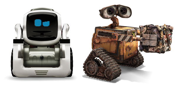 ربات کازمو شباهت زیادی به شخصیت انیمیشن وال ای دارد
