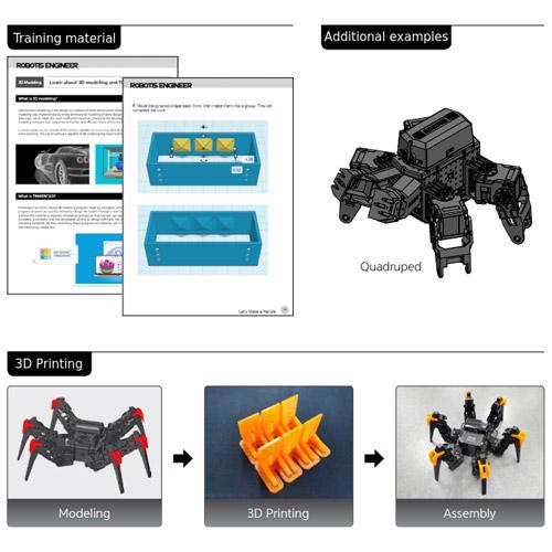 رباتی با قابلیت توسعه و طرح درس چاپگر سه بعدی