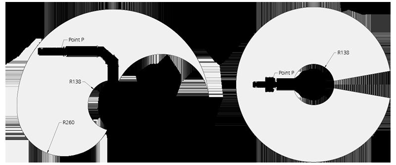 نمودار دسترسی بازوی 6 درجه آزادی OpenManipulator-P RM-P60-RNH