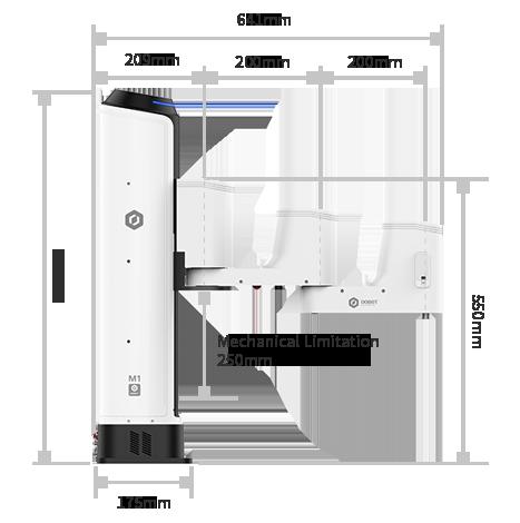 DOBOT M1 dimensions